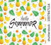 tropical summer objects in... | Shutterstock .eps vector #1007867116