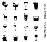 drinks glass silhouettes for... | Shutterstock .eps vector #100787122
