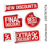 best discount sale stickers set. | Shutterstock .eps vector #100787476