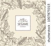 background with sesame  sesame... | Shutterstock .eps vector #1007875315