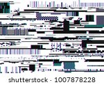 colorful glitch background.... | Shutterstock .eps vector #1007878228