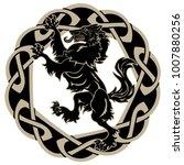 design werewolf and celtic... | Shutterstock .eps vector #1007880256