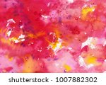 abstract grunge pink watercolor ... | Shutterstock . vector #1007882302