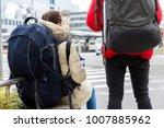 close up the tourist backpacker ...   Shutterstock . vector #1007885962