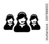 help icon vector female group... | Shutterstock .eps vector #1007888002