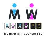 wc sign for restroom. toilet... | Shutterstock .eps vector #1007888566