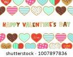 happy valentine's day....   Shutterstock .eps vector #1007897836