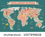 world travel map poster. travel ... | Shutterstock .eps vector #1007898838