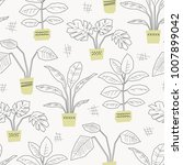seamless pattern with hand... | Shutterstock .eps vector #1007899042