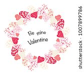 hearts frame with place for... | Shutterstock .eps vector #1007899786