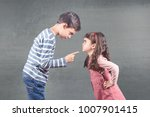 brother and sister arguing | Shutterstock . vector #1007901415