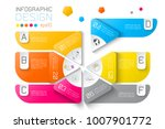 business labels infographic on... | Shutterstock .eps vector #1007901772