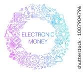 modern linear concept of... | Shutterstock .eps vector #1007904796