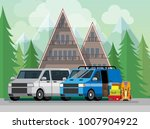 vacation in the mountains.... | Shutterstock .eps vector #1007904922