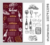 wine restaurant menu. design... | Shutterstock .eps vector #1007912098