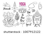 yoga set. vector isolated hand... | Shutterstock .eps vector #1007912122
