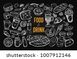 food and drink vector big set... | Shutterstock .eps vector #1007912146