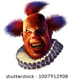 evil scary smiling clown.... | Shutterstock . vector #1007912908