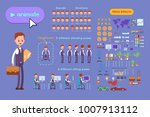 big set for animating business... | Shutterstock .eps vector #1007913112
