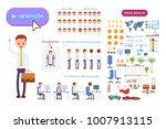 big set for animating business... | Shutterstock .eps vector #1007913115