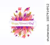 8 march  birthday greeting card.... | Shutterstock .eps vector #1007914912