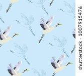 crane  pattern  vector ...   Shutterstock .eps vector #1007915476
