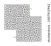 abstract maze labyrinth with...   Shutterstock .eps vector #1007915962