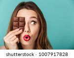 portrait of a cheery brown... | Shutterstock . vector #1007917828