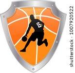 basketball icon   vector | Shutterstock .eps vector #1007920522