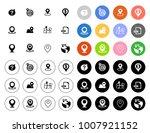 navigation icons set   Shutterstock .eps vector #1007921152