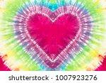 heart shape tie dye pattern...   Shutterstock . vector #1007923276