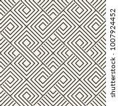 vector seamless lattice pattern.... | Shutterstock .eps vector #1007924452