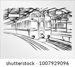 freehand drawing hand draw... | Shutterstock .eps vector #1007929096