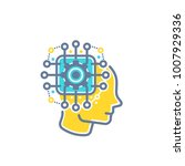 machine learning  artificial... | Shutterstock .eps vector #1007929336