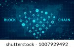 abstract blockchain concept web ... | Shutterstock .eps vector #1007929492