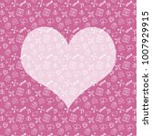 valentine's day pattern | Shutterstock . vector #1007929915