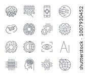icons set for artificial... | Shutterstock .eps vector #1007930452