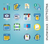 icon set about marketing with... | Shutterstock .eps vector #1007932966