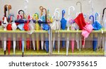 Colorful Umbrellas In A Large...
