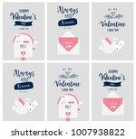 valentine's day card set ...   Shutterstock .eps vector #1007938822