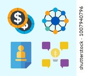 icons set about business with... | Shutterstock .eps vector #1007940796