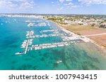beautiful tourist port aerial... | Shutterstock . vector #1007943415