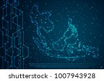 abstract mash line and point... | Shutterstock .eps vector #1007943928