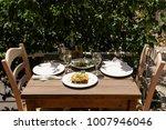 traditional moussaka  village... | Shutterstock . vector #1007946046