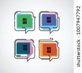 flat linear speech bubble | Shutterstock .eps vector #1007947792