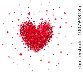 heart of little red hearts on a ... | Shutterstock .eps vector #1007948185