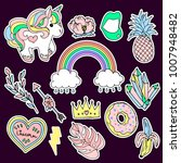 set of fashion patches elements....   Shutterstock . vector #1007948482