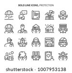 protection  bold line icons.... | Shutterstock .eps vector #1007953138