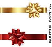 set of decorative golden and... | Shutterstock .eps vector #1007954332