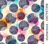 template seamless abstract... | Shutterstock .eps vector #1007957398
